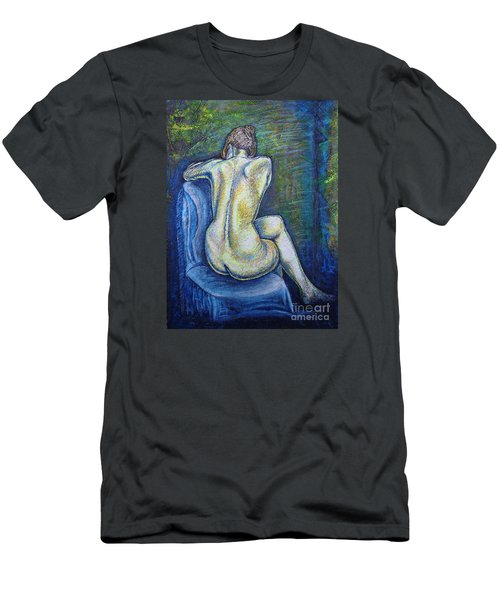 Men's T-Shirt (Slim Fit) featuring the painting Silhouette 2 by Viktor Lazarev