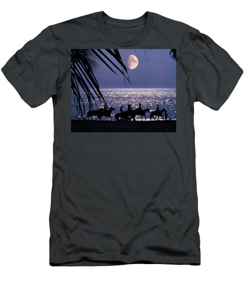 Silhouetted Anonymous Horseback Riders Men's T-Shirt (Athletic Fit)