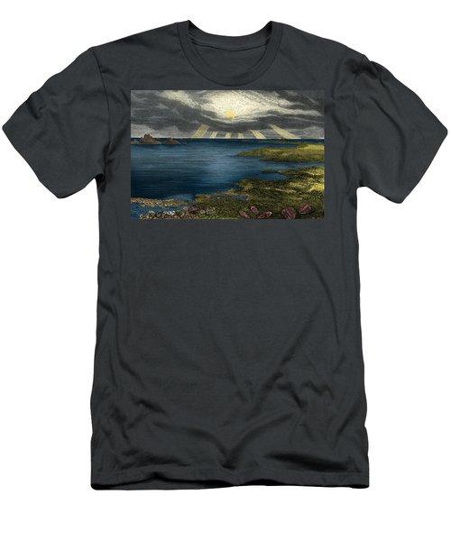 Silurian Landscape Men's T-Shirt (Athletic Fit)
