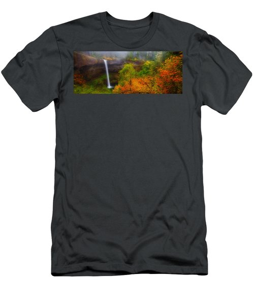 Silver Falls Pano Men's T-Shirt (Athletic Fit)