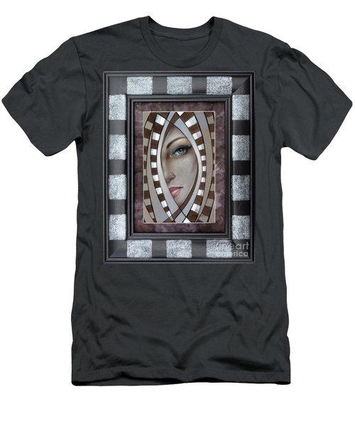 Silver Memories 220414 Framed Men's T-Shirt (Slim Fit) by Selena Boron