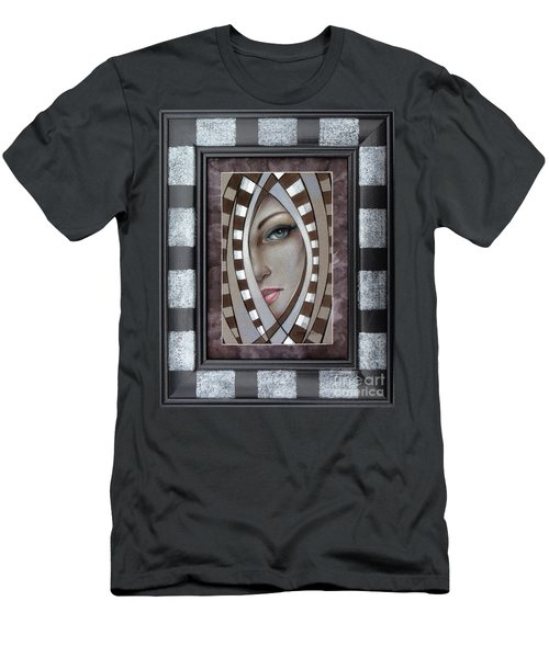Silver Memories 220414 Framed Men's T-Shirt (Athletic Fit)