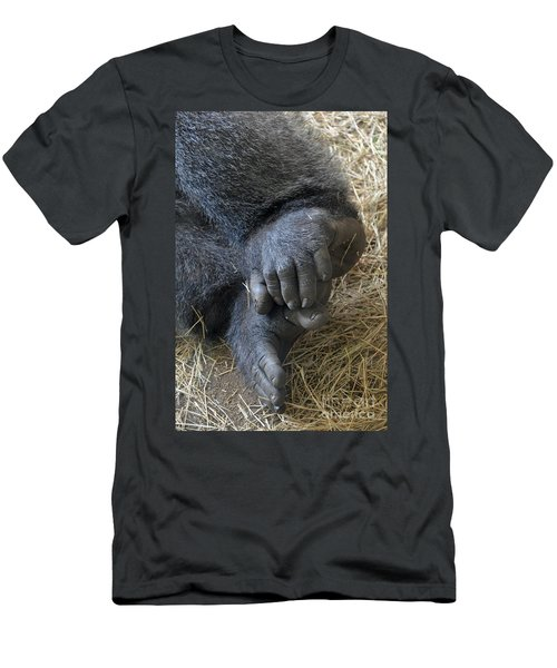 Men's T-Shirt (Slim Fit) featuring the photograph Silverback Toes by Robert Meanor