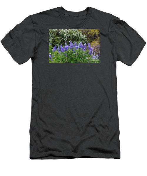 Men's T-Shirt (Slim Fit) featuring the photograph Silvery Lupine Black Canyon Colorado by Janice Rae Pariza