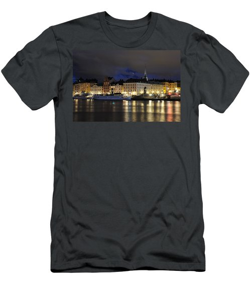 Skeppsbron At Night Men's T-Shirt (Athletic Fit)