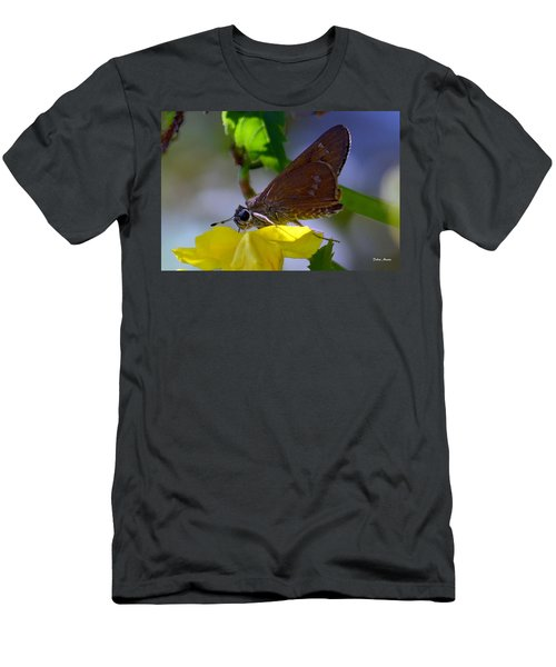 Skipper Butterfly Men's T-Shirt (Slim Fit) by Debra Martz