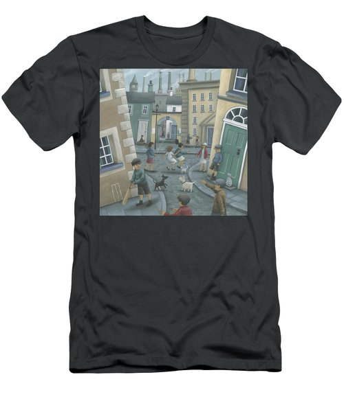 Skipping By The Green Door Men's T-Shirt (Athletic Fit)