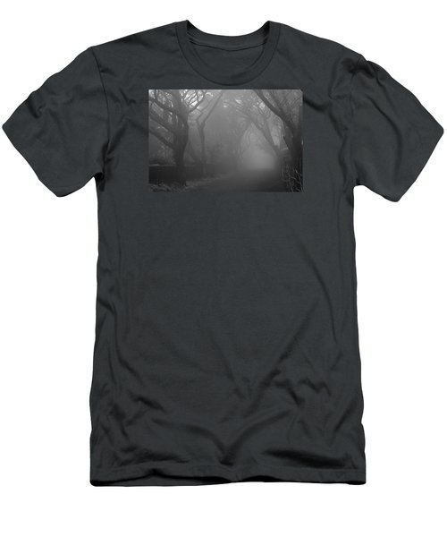 Men's T-Shirt (Slim Fit) featuring the photograph Skc 0077 A Romatic Path by Sunil Kapadia