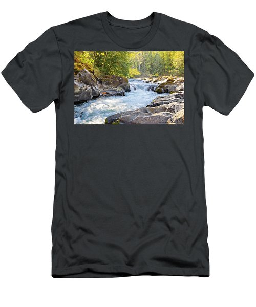Skutz Falls At Cowichan River Provincial Park Men's T-Shirt (Athletic Fit)