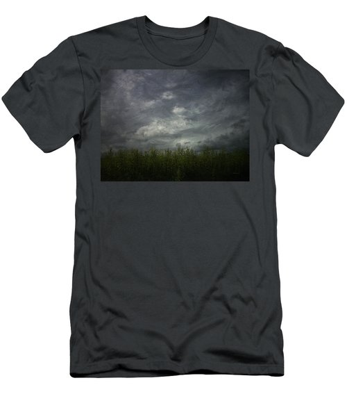 Sky With Cornfield Men's T-Shirt (Athletic Fit)