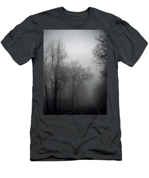 Skyline Drive In Fog Men's T-Shirt (Athletic Fit)