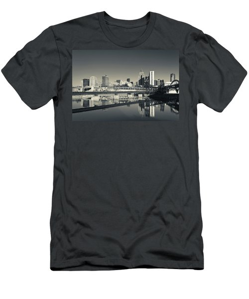 Skyline From Raspberry Island, St Men's T-Shirt (Athletic Fit)
