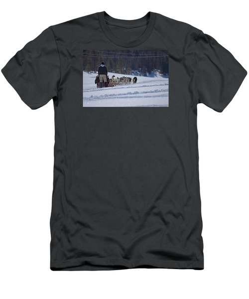 Sled Dog  Men's T-Shirt (Slim Fit) by Duncan Selby