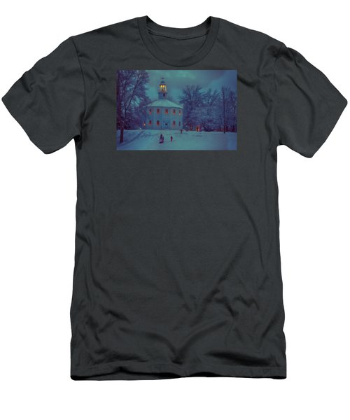 Sledding At The Old Round Church Men's T-Shirt (Athletic Fit)