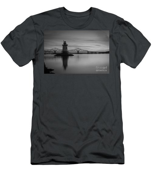 Sleepy Hollow Lighthouse Bw Men's T-Shirt (Athletic Fit)