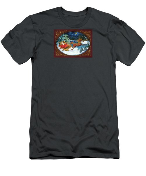 Sleigh Ride Men's T-Shirt (Athletic Fit)