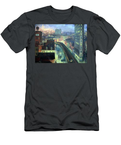 Sloan's The City From Greenwich Village Men's T-Shirt (Athletic Fit)