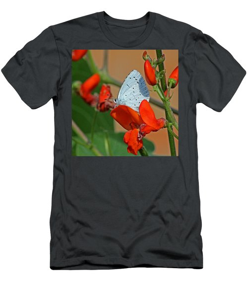 Small Blue Butterfly Men's T-Shirt (Athletic Fit)
