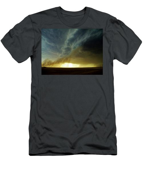 Men's T-Shirt (Slim Fit) featuring the photograph Smoke And The Supercell by Ed Sweeney
