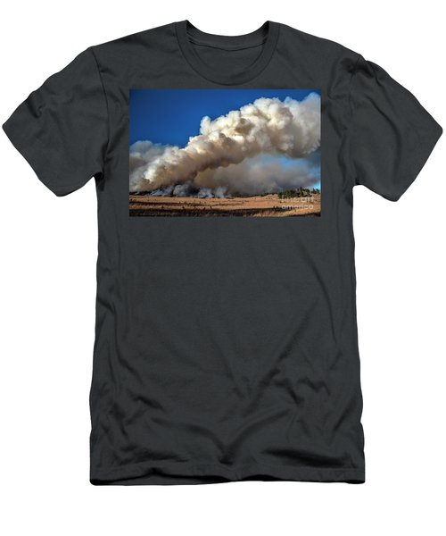 Smoke Column From The Norbeck Prescribed Fire. Men's T-Shirt (Athletic Fit)