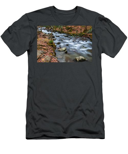 Smokey Mountain Stream Men's T-Shirt (Athletic Fit)
