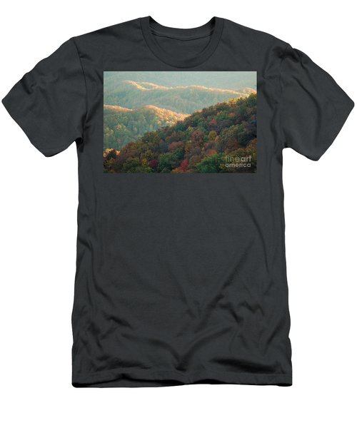 Men's T-Shirt (Slim Fit) featuring the photograph Smoky Mountain View by Patrick Shupert