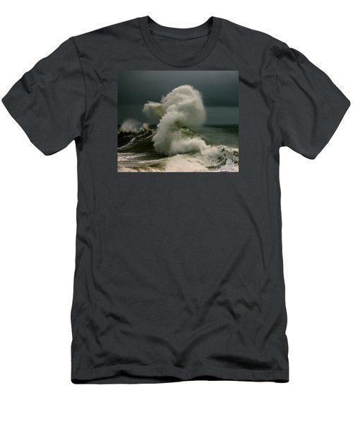 Snake Wave Men's T-Shirt (Slim Fit) by Michael Cinnamond