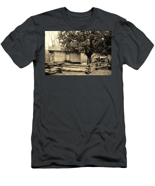 Snodgrass Cabin And Cannon Men's T-Shirt (Slim Fit) by Daniel Thompson