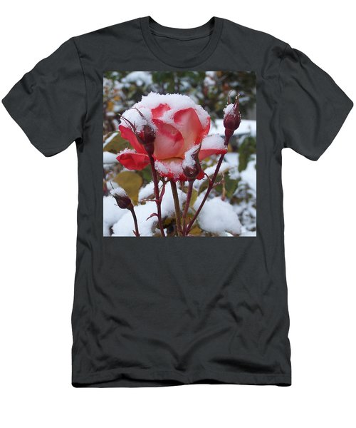 Snow Blooms Men's T-Shirt (Athletic Fit)