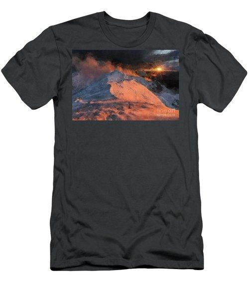 Snow Cap Sunset Men's T-Shirt (Athletic Fit)