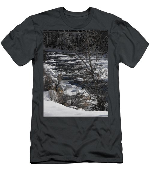 Snow Capped Stream Men's T-Shirt (Athletic Fit)