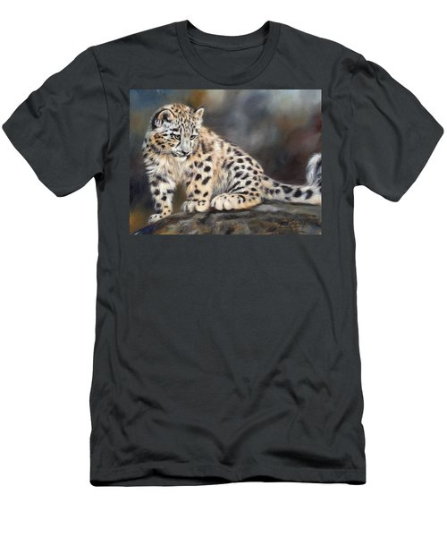 Snow Leopard Cub Men's T-Shirt (Slim Fit)