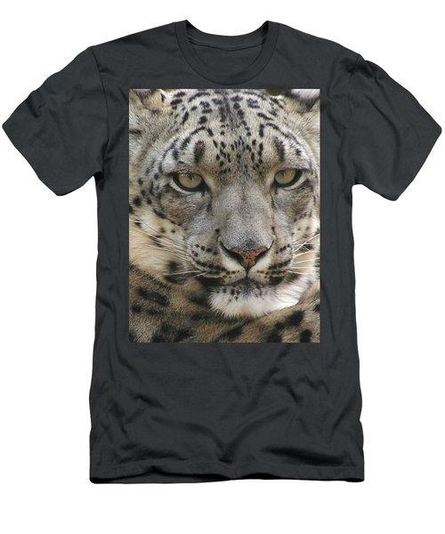 Men's T-Shirt (Slim Fit) featuring the photograph Snow Leopard by Diane Alexander
