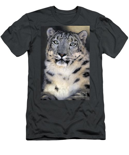 Snow Leopard Portrait Endangered Species Wildlife Rescue Men's T-Shirt (Athletic Fit)