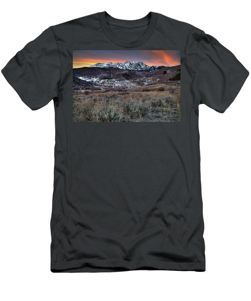 Snowbasin Fire And Ice Men's T-Shirt (Athletic Fit)