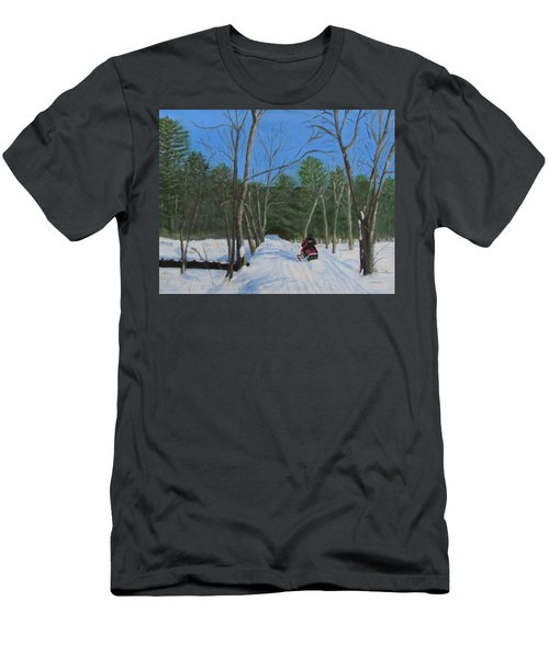 Snowmobile On Trail Men's T-Shirt (Athletic Fit)