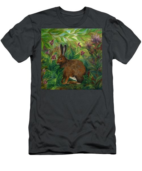 Snowshoe Hare Men's T-Shirt (Athletic Fit)