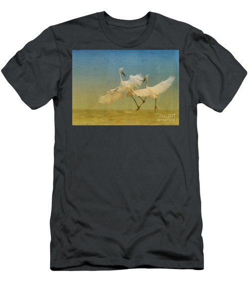 Snowy Egret Dance Men's T-Shirt (Athletic Fit)