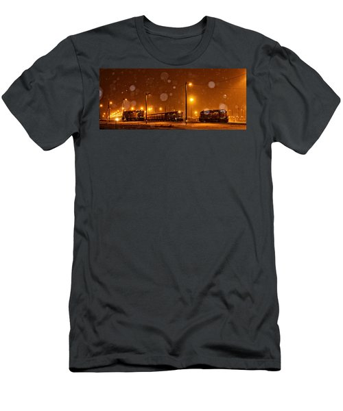 Snowy Night Men's T-Shirt (Athletic Fit)