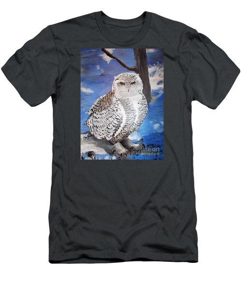 Snowy Owl . Men's T-Shirt (Slim Fit)