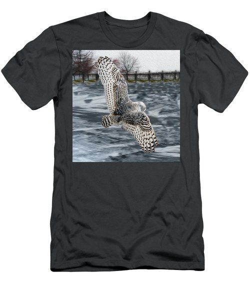 Snowy Owl Wingspan Men's T-Shirt (Athletic Fit)