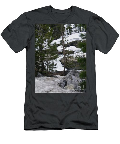 Men's T-Shirt (Slim Fit) featuring the photograph Snowy Sierras by Bobbee Rickard