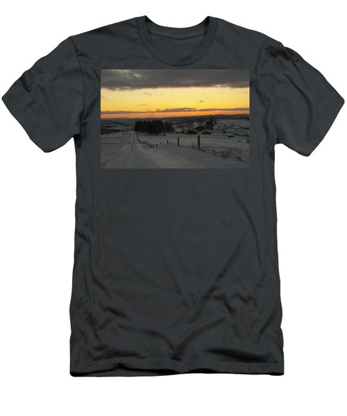 Snowy Pennsylvania Sunset Men's T-Shirt (Athletic Fit)