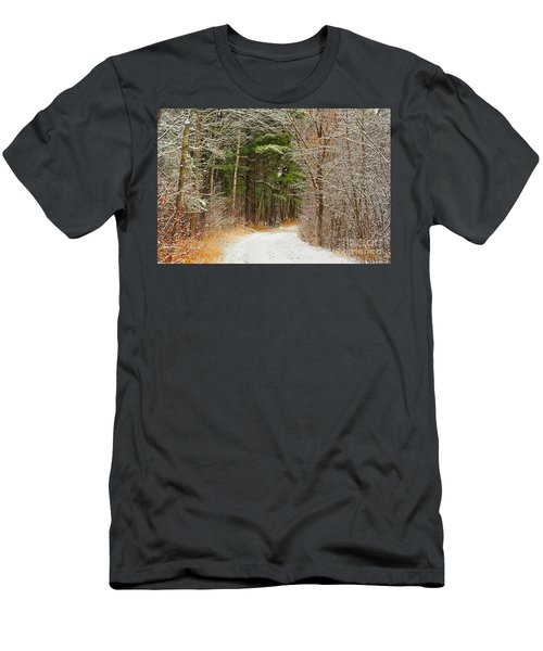 Snowy Tunnel Of Trees Men's T-Shirt (Athletic Fit)