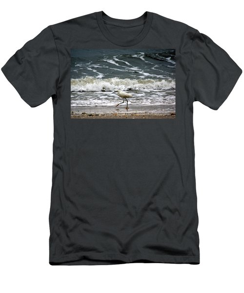 Snowy White Egret Men's T-Shirt (Athletic Fit)