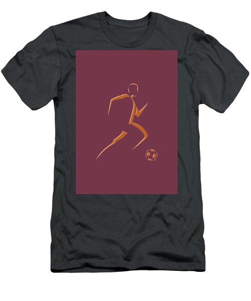 Soccer Player4 Men's T-Shirt (Athletic Fit)