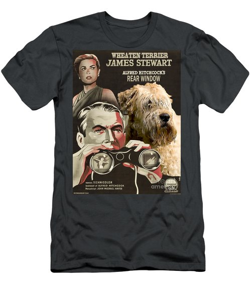 Soft-coated Wheaten Terrier  - Wheaten Terrier Art Canvas Print - Rear Window Movie Poster Men's T-Shirt (Athletic Fit)