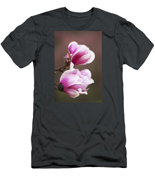 Soft Magnolia Blossoms Men's T-Shirt (Slim Fit) by Shelly Gunderson