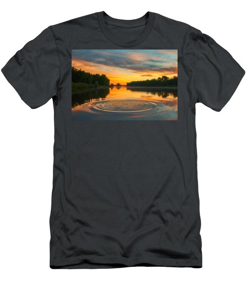 Solstice Ripples Men's T-Shirt (Athletic Fit)