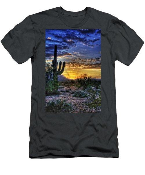 Sonoran Sunrise  Men's T-Shirt (Slim Fit) by Saija  Lehtonen